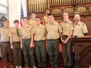East Hanover Boys Scouts Troop 128 group First Presbyterian Church of East Hanover