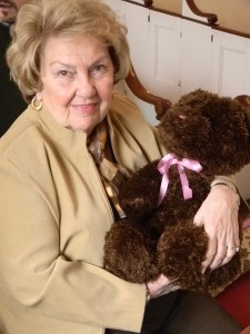 Teddy bear and parishioner